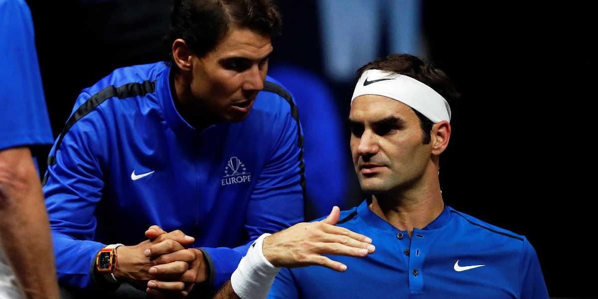 Ténis Nadal y Federer
